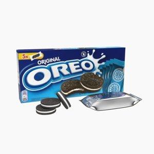 oreo cookies pack 3d model