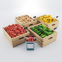 vegetables boxes 3d model