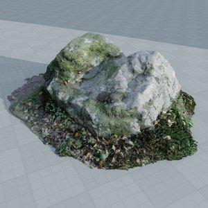 3d scan rock stone