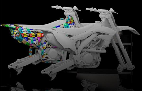 3d 2016 dirt bike model