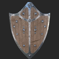 free shield corona pbr 3d model