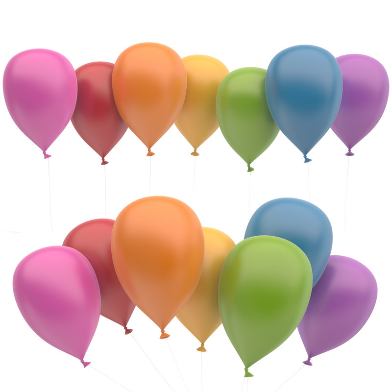 3d model ballons colors