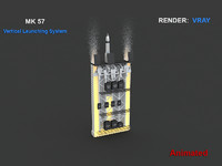 mk 57 vertical launching 3d model