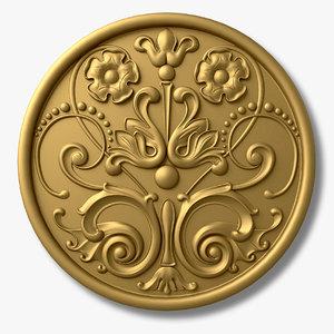 free medal medallion 3d model