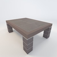 3d model leather occasional table