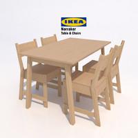 3d model ikea norraker table