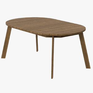 3d model patio dining table 02