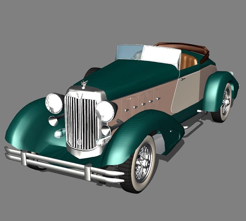 3d model chrysler imperial 1932