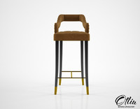 ottiu kelly bar chair 3d model