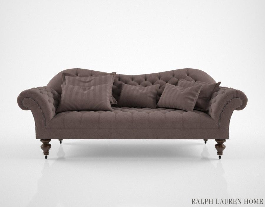 3d model ralph lauren hayden sofa
