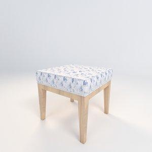 fabric stool 3d model