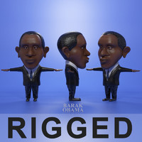 3d model cartoon obama