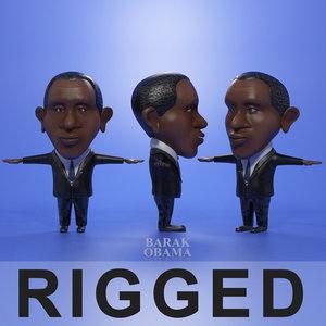 3d model cartoon obama
