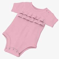 3d model onesie pink -