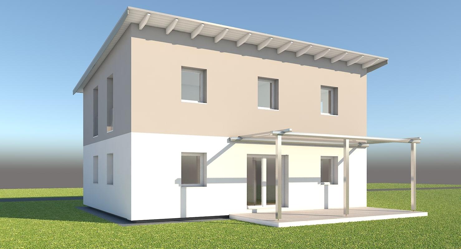 3d modern family home