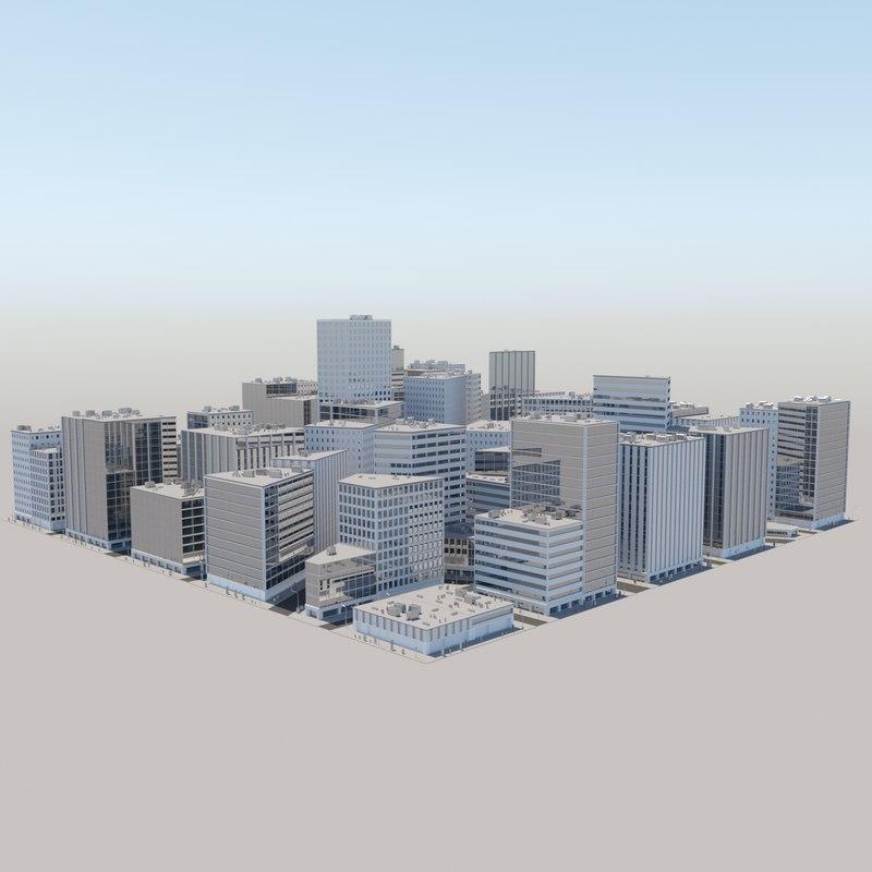 3d model city cityscape