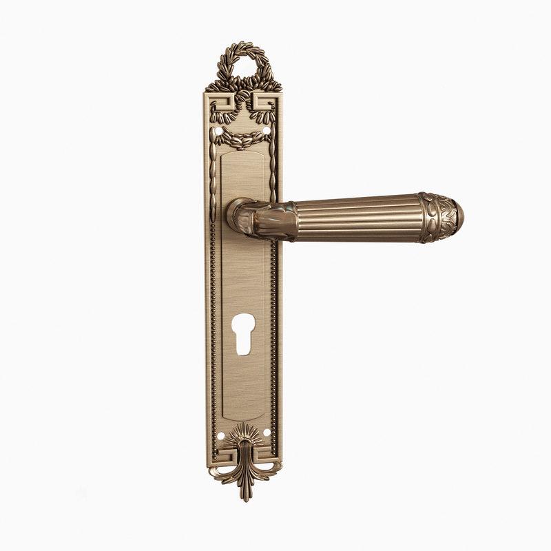 3d Model Door Handle Versailles