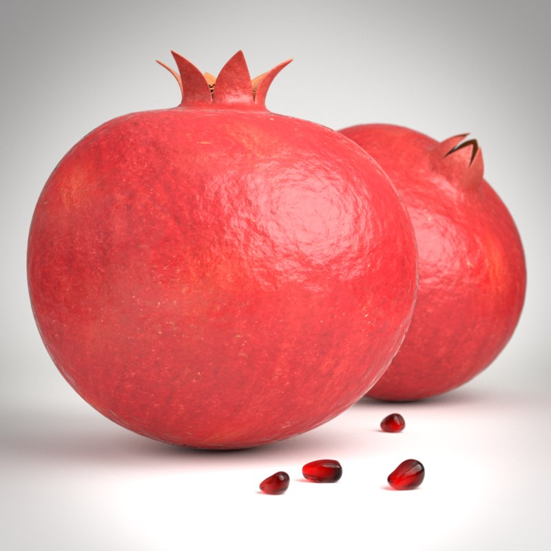 3d model pomegranates