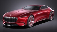 mercedes vision maybach 3d 3ds