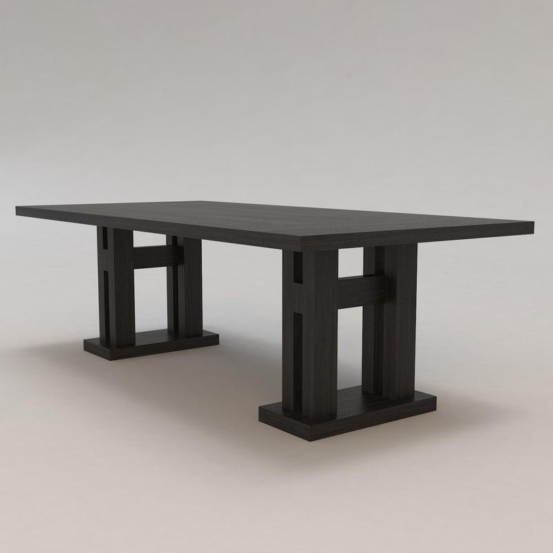 malte table christian liaigre 3d max