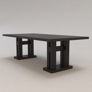 malte table christian liaigre 3d max