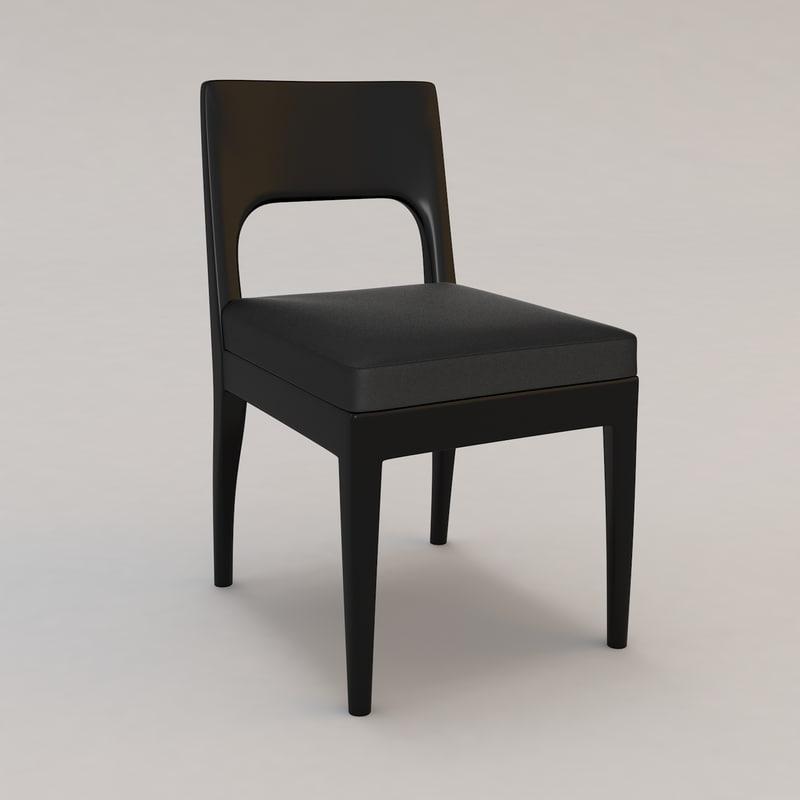 3d model musc chair christian liaigre