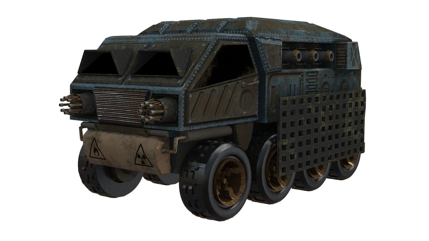 3d ma battle car concept
