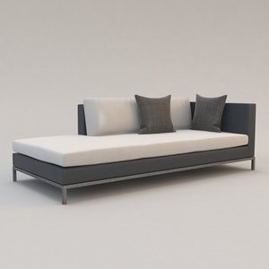nobile sofa christian liaigre 3d model