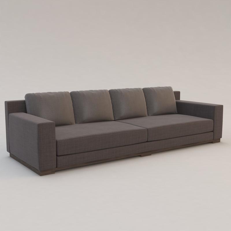 3d model ocean sofa christian liaigre