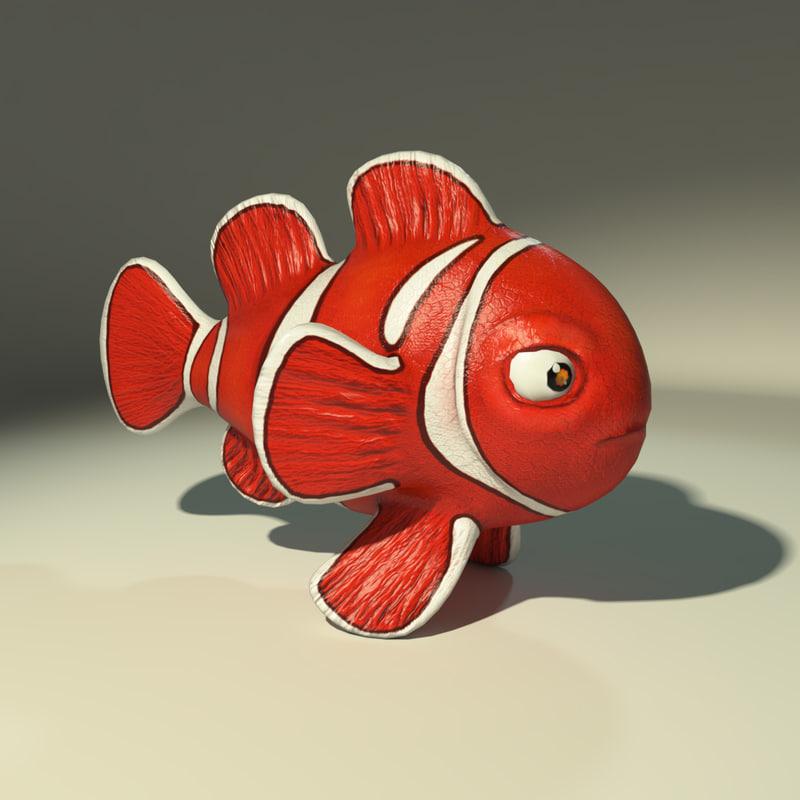 clownfish gameready obj