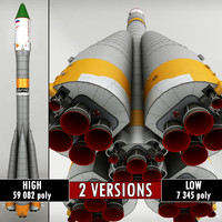 Space rocket Launcher Progress Soyuz-FG