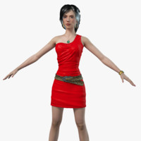 red dress rigged girl max