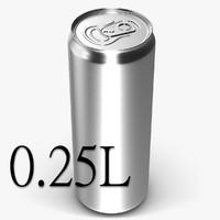 3d obj beverage 0 25 l