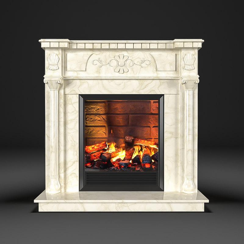 fireplace dacota corner 3d model