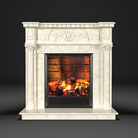 fireplace dacota corner 3d model