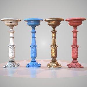 3d obj plowerpot photorealistic 4 variations