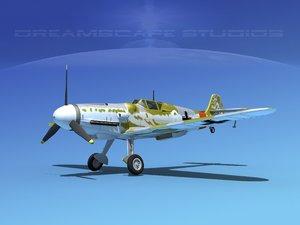 3d model messerschmitt bf-109 fighter