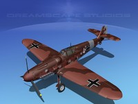3d model messerschmitt bf-109 fighter