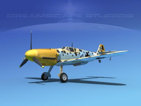 messerschmitt bf-109 fighter 3d ma