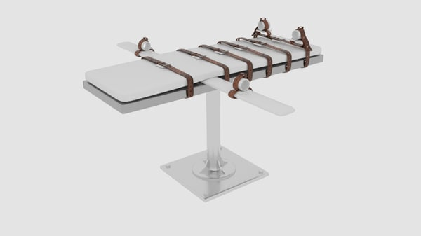 3d model lethal injection bed