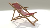 sun chair 3d 3ds