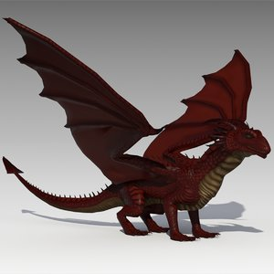 3d max dragon animations