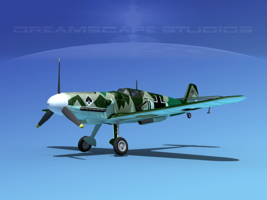 max messerschmitt bf-109 fighter