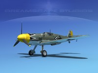 3d messerschmitt bf-109 fighter model