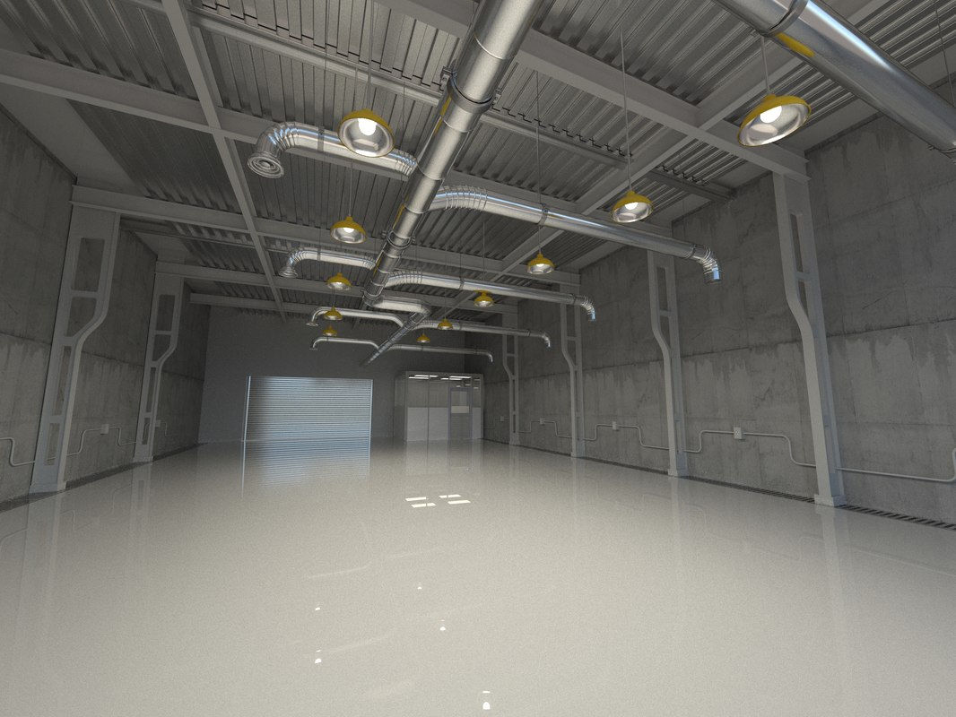 industrial shed 3d max