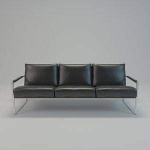 minimalist sofa leather 3d model