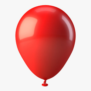 inflated balloon 3d model