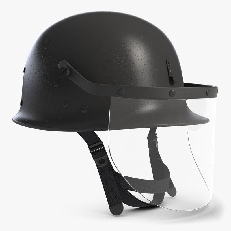 3d model riot helmet