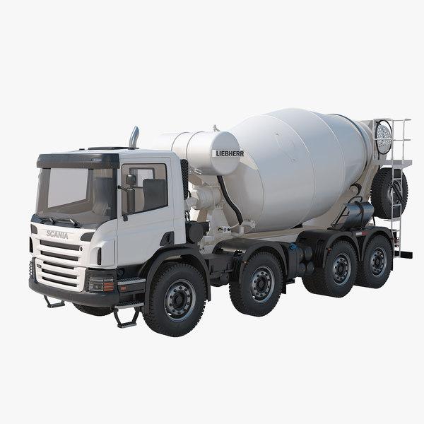 liebherr truck mixer 3d model