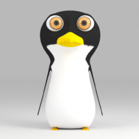 3d cartoon penguin rigged